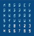 Modern decoration font Narrow geometric style vector image