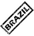 BRAZIL rubber stamp vector image