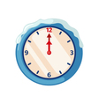Christmas clock icon in flat style vector image