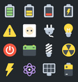 Energy Flat Icons vector image