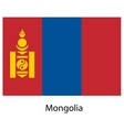 Flag of the country mongolia vector image