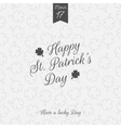 Happy Saint Patricks Day greeting Background vector image