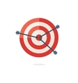 Red darts target on white background vector image