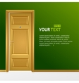 yellow door in the green wall for text vector image