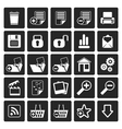 Black 25 Simple Realistic Detailed Internet Icons vector image