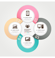 Communication technology infographics circle vector image