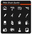 art tools icon set vector image