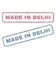 made in delhi textile stamps vector image