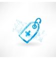 medical grunge icon vector image vector image