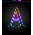 neon letter A vector image vector image