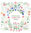Floral set - watercolor vector image