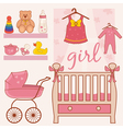 room baby girl vector image