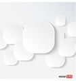 White speech cloud vector image