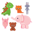 childrens toys isolated on a white background vector image