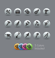 Tools icons pearly series vector