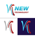 Letter N logo for Business vector image