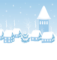city at night in the snow vector image