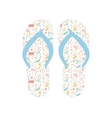 Flip flops Slippers with cat pattern vector image