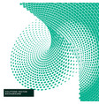 green halftone dots in abstract style vector image