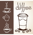 Hand Drawn Coffee Sketches vector image