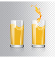 orange juice in a glass realistic vector image