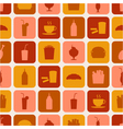 seamless pattern of fast food icons vector image