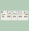 thin line flat design digital marketing vector image