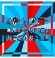 Big ice sale poster with LIMITED OFFER MEGA SALE vector image