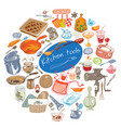 colorful doodle kitchen tools concept vector image