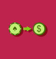 flat icon design collection chips equal money in vector image vector image