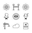 error 401 icons vector image