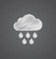 cloud rain sketch logo doodle icon vector image