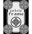 Frame in Celtic vector image