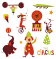 Circus artists cartoon characters vector image
