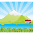 spring sunny landscape vector image vector image