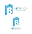 logo combination of a book and letter b vector image