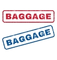 Baggage Rubber Stamps vector image