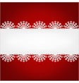 christmas background with snowflakes and place for vector image