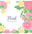 elegant square background with pink and yellow vector image