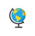 globe isolated flat web mobile icon image vector image
