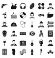 good job icons set simple style vector image