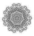 Hand drawing zentangle mandala element vector image