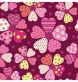 Heart flower pattern vector image