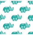hippo seamless pattern vector image