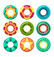 lifeguard swimming rings in different colors vector image