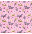 princess seamless pattern vector image