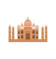 taj mahal mausoleum in agra famous monument of vector image