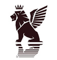 winged lion emblem vector image