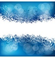 Christmas background in blue vector image vector image
