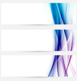 Satin swoosh speed line web headers collection vector image